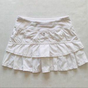Ivivva Set The Pace Skirt / Skort White Size 12